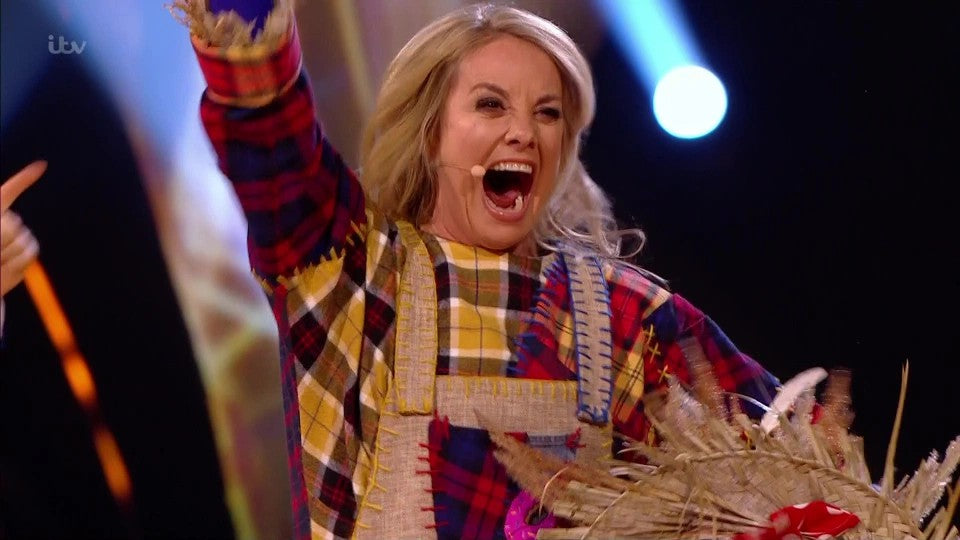 Tamzin Outhwaite as Scarecrow in ITV's The Masked Dancer