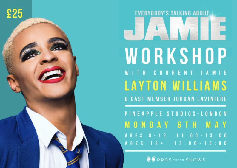 Everybody's Talking About Jamie workshop with current Jamie 'LAYTON WILLIAMS'