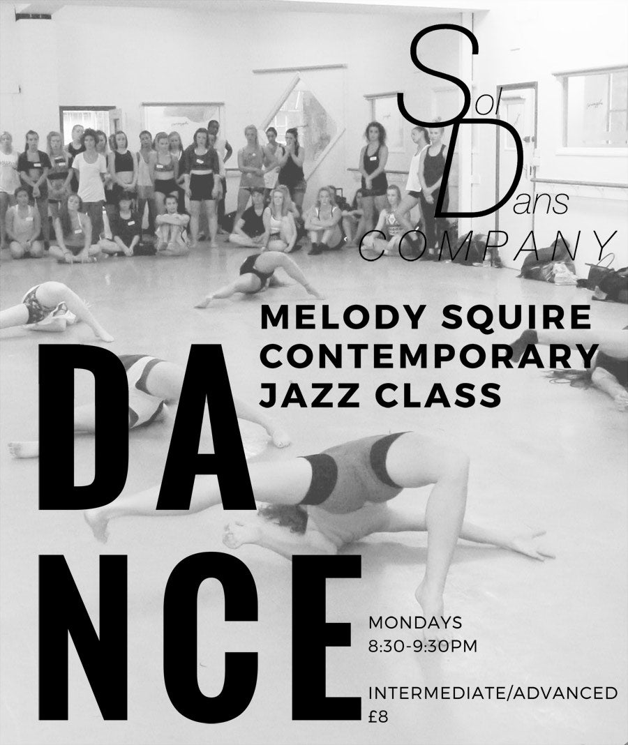 New Contemporary Jazz Class with Melody Squire - Mondays 8:30-9:30pm