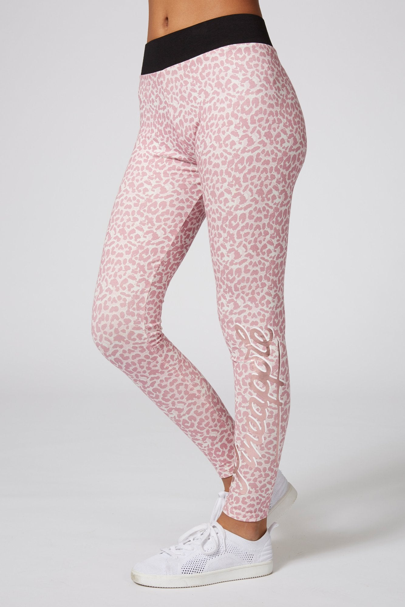 Pineapple Dancewear Girls' Pink Animal Print Leggings