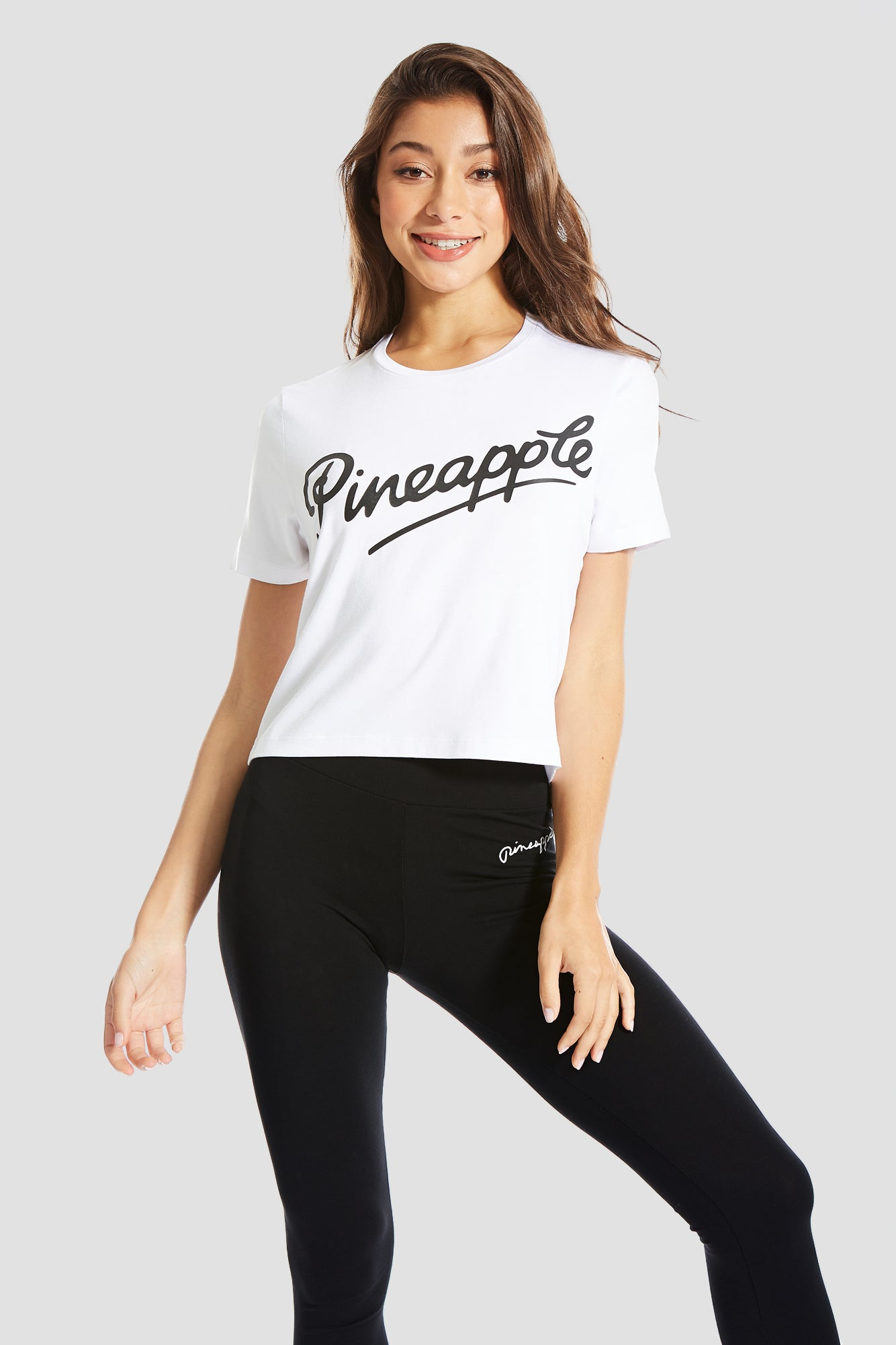 Pineapple Dancewear Women's White Crop T-Shirt