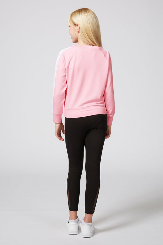 Dance Mesh Stripe Jumper