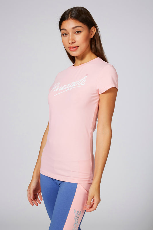 Pineapple Women's Fitted Logo Pink T-Shirt TS16130P3