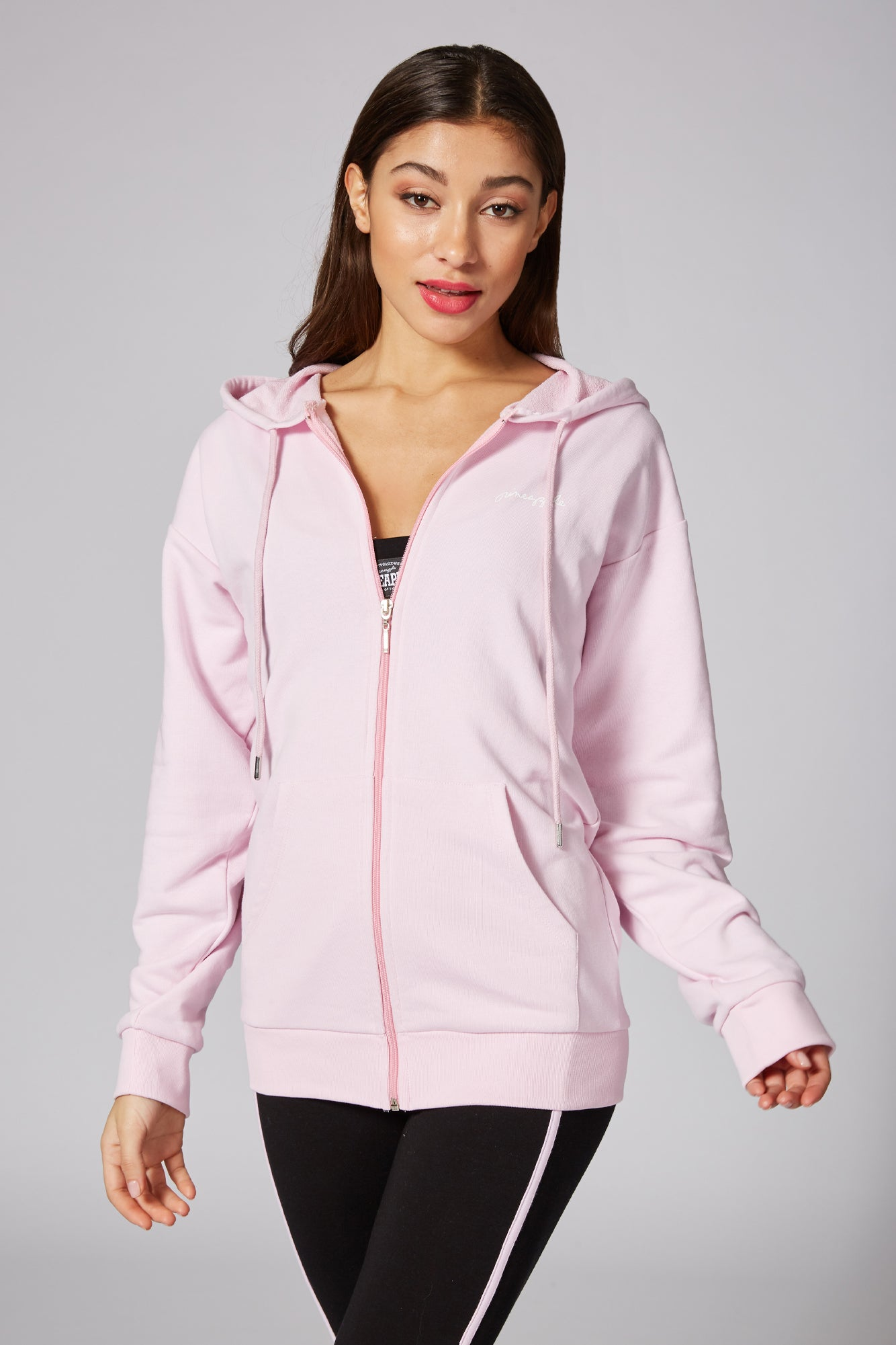 Pineapple Dancewear Women's Pink Fleece Zip Hoodie