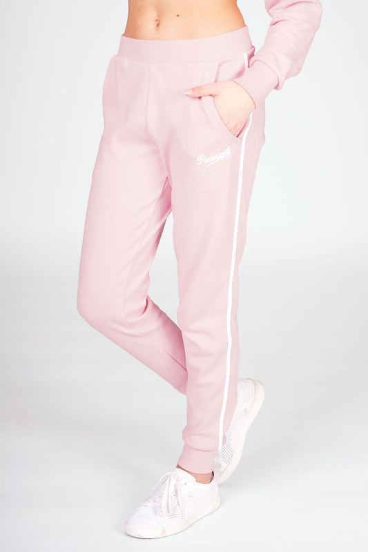 Girl wearing Pineapple Pink Stripe Pocket Joggers