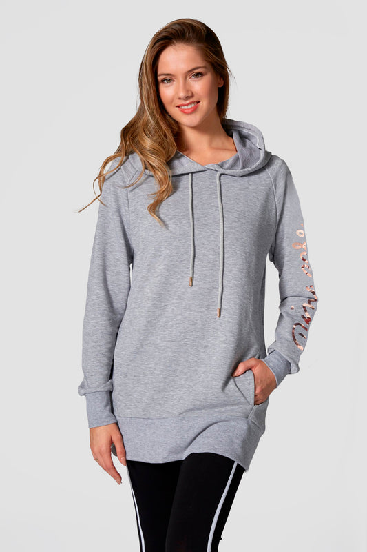Pineapple Women's Grey Longline Hoodie WH18050A3