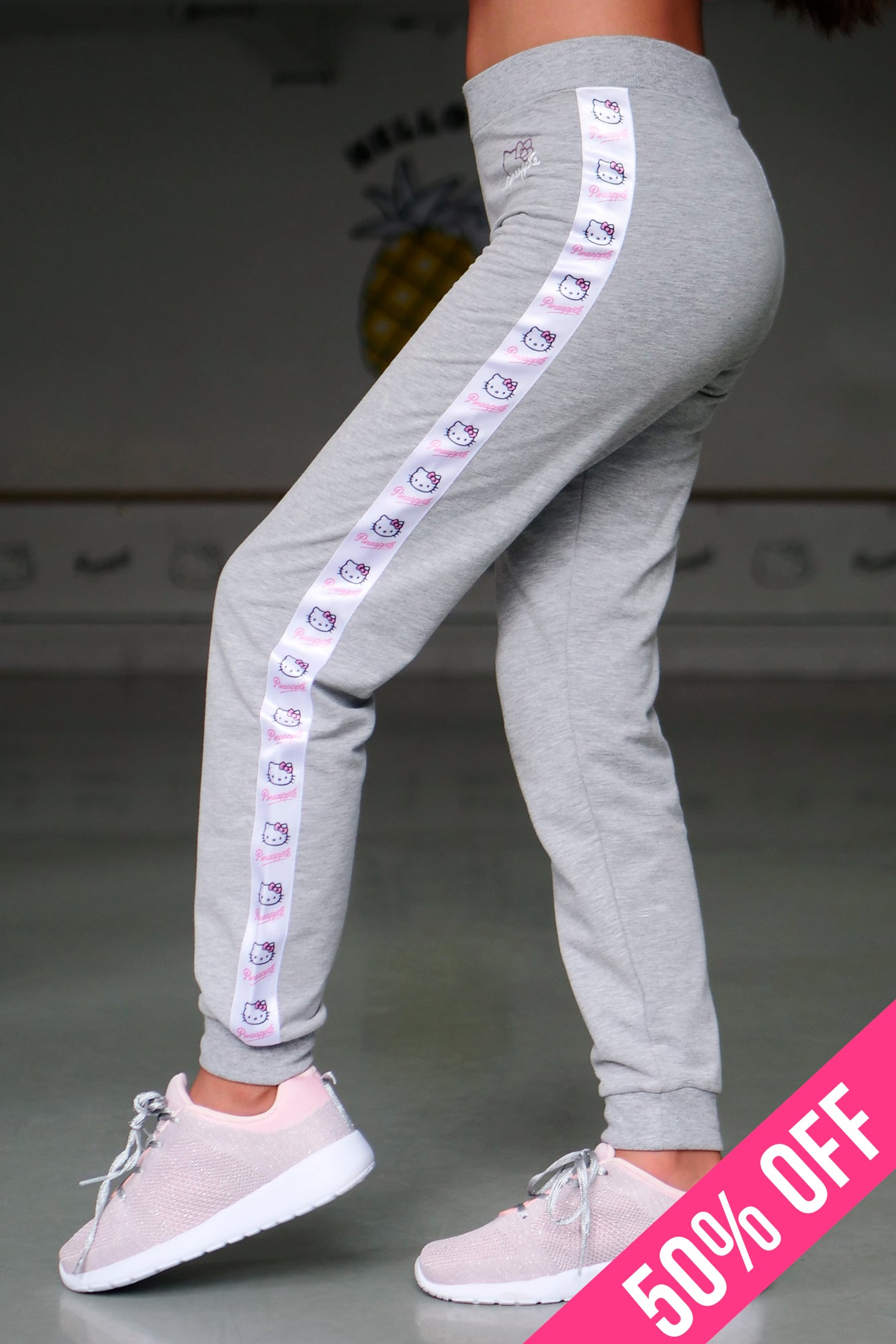 Pineapple Girls' Hello Kitty Tape Joggers