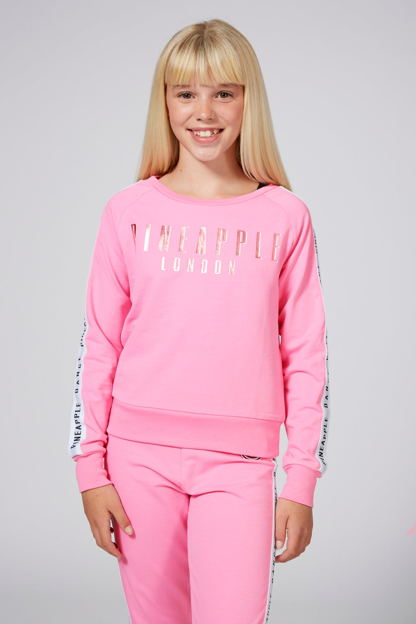 Pineapple Dancewear Girls' Pink Jacquard Jumper TL1575CP7