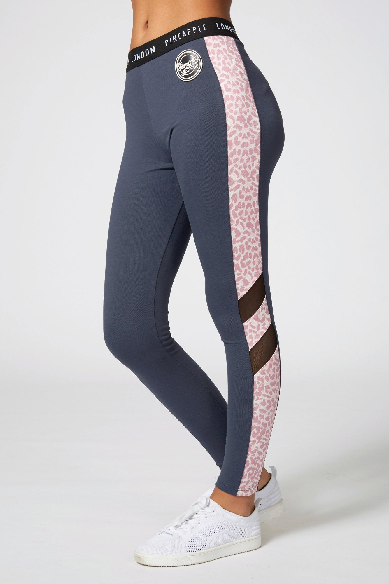 Jacquard Mesh Panel Leggings