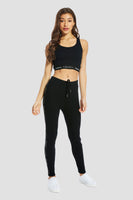 Pineapple Dancewear Women's Black Jacquard Rib Joggers