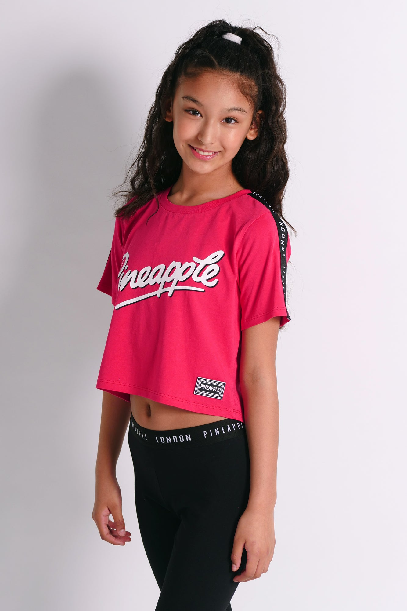 Pineapple Dancewear Girls' Red Jacquard T-Shirt