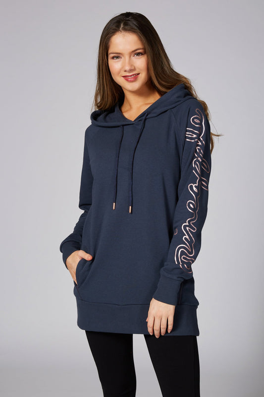 Pineapple Dancewear Women's Charcoal Loopback Long Hoodie