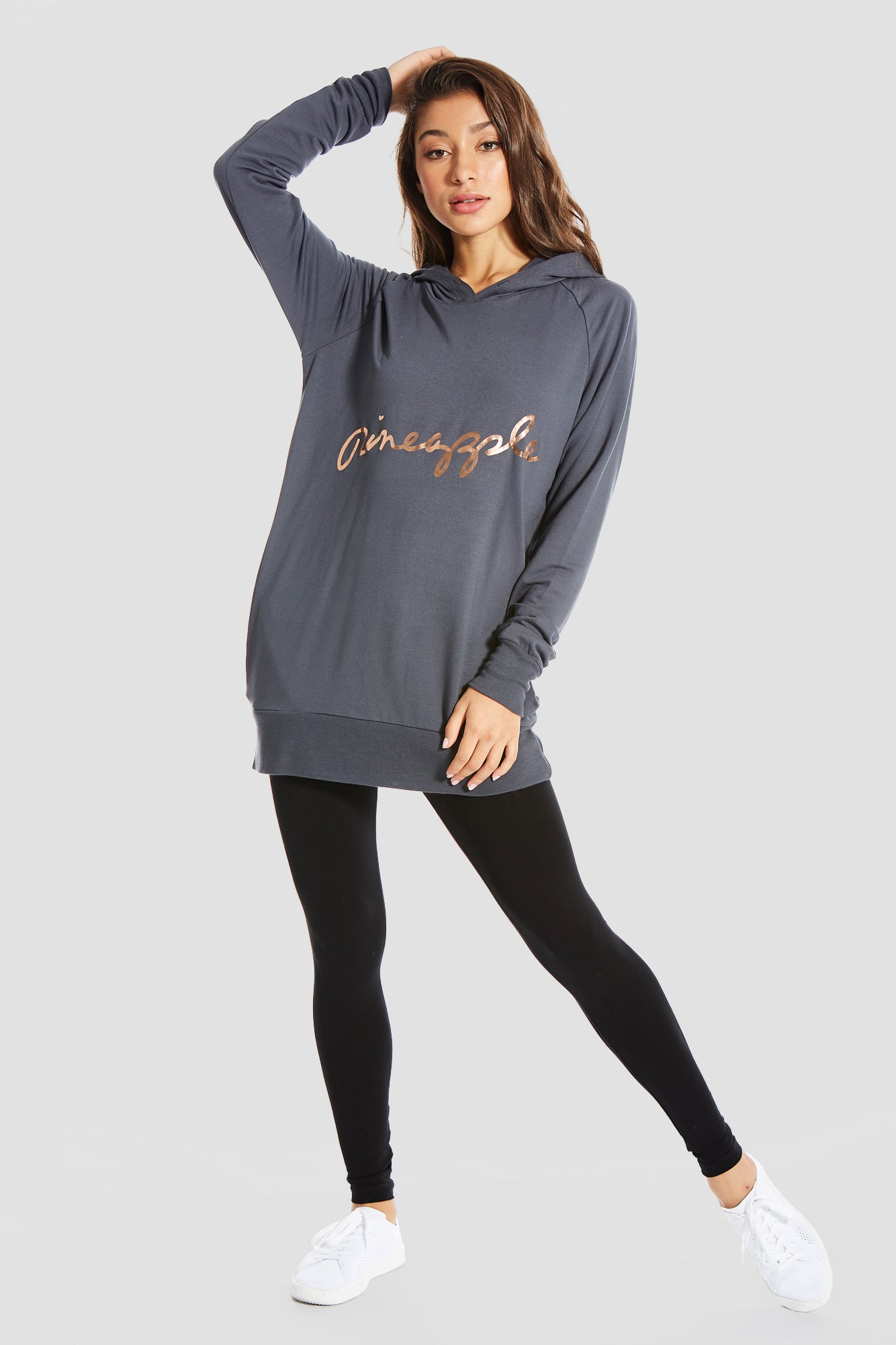 Pineapple Dancewear Women's Charcoal Longline Hoody