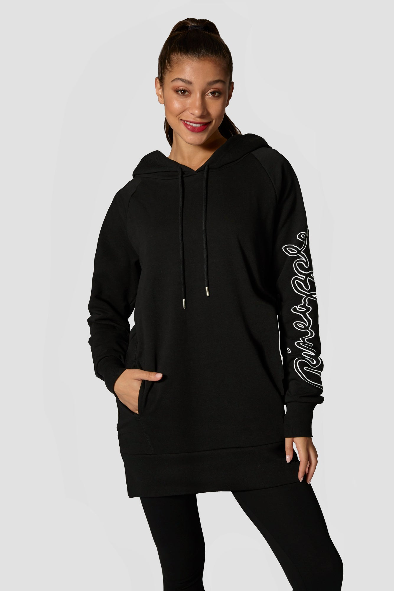 Pineapple Dancewear Women's Black Loopback Long Hoodie