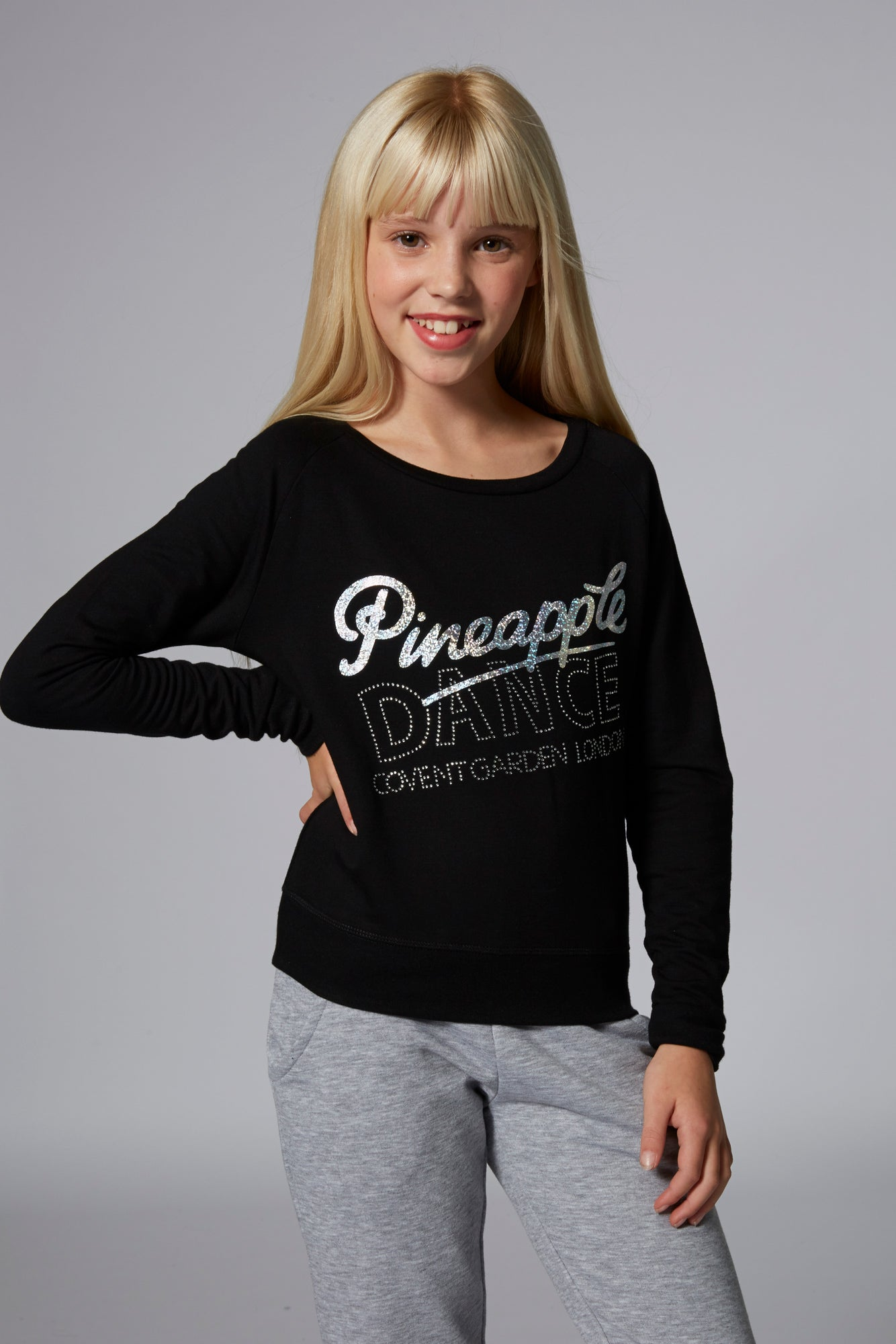 Girls' Long Sleeve Retro Jumper