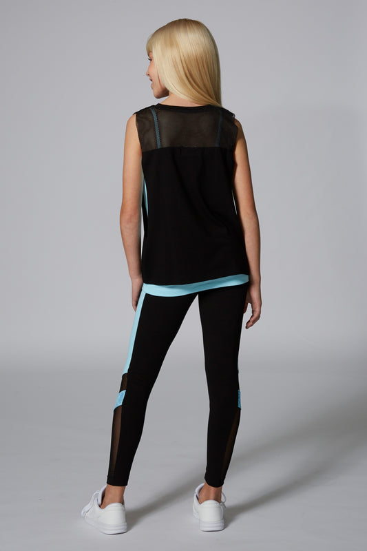 Mesh Panel Double Layer Vest