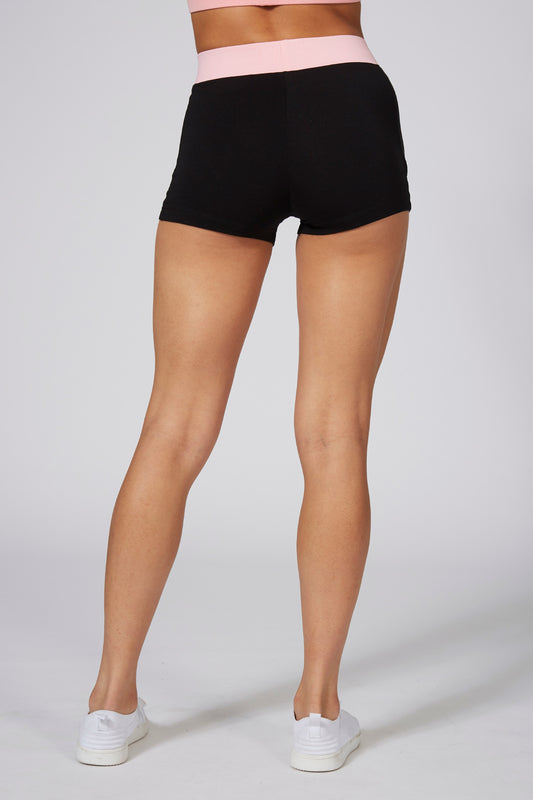 Pineapple Dancewear Women's Mesh Panel Black Hotpants PS15500A1