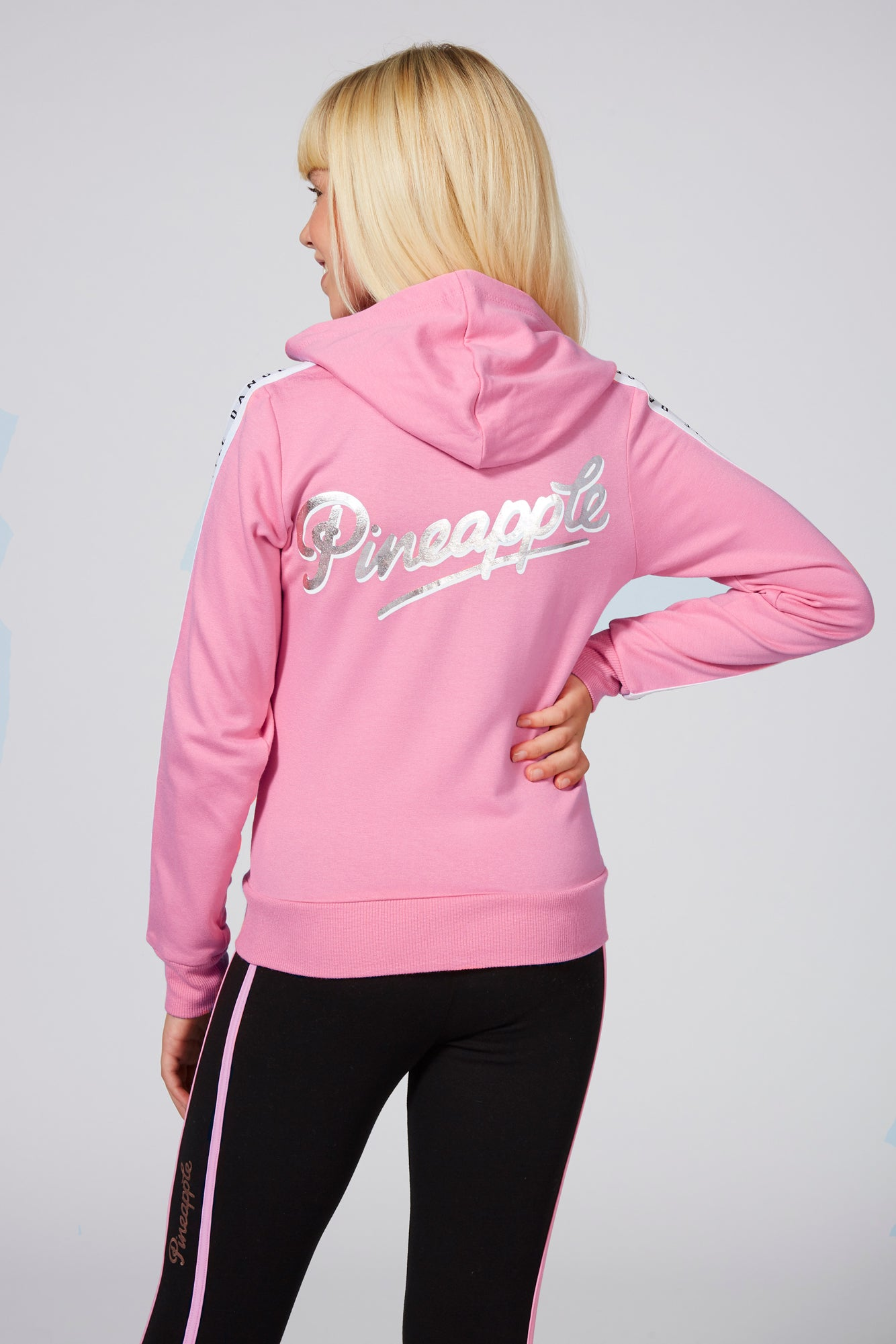 Pineapple Dancewear Girls' Mesh Stripe Zip Hoodie