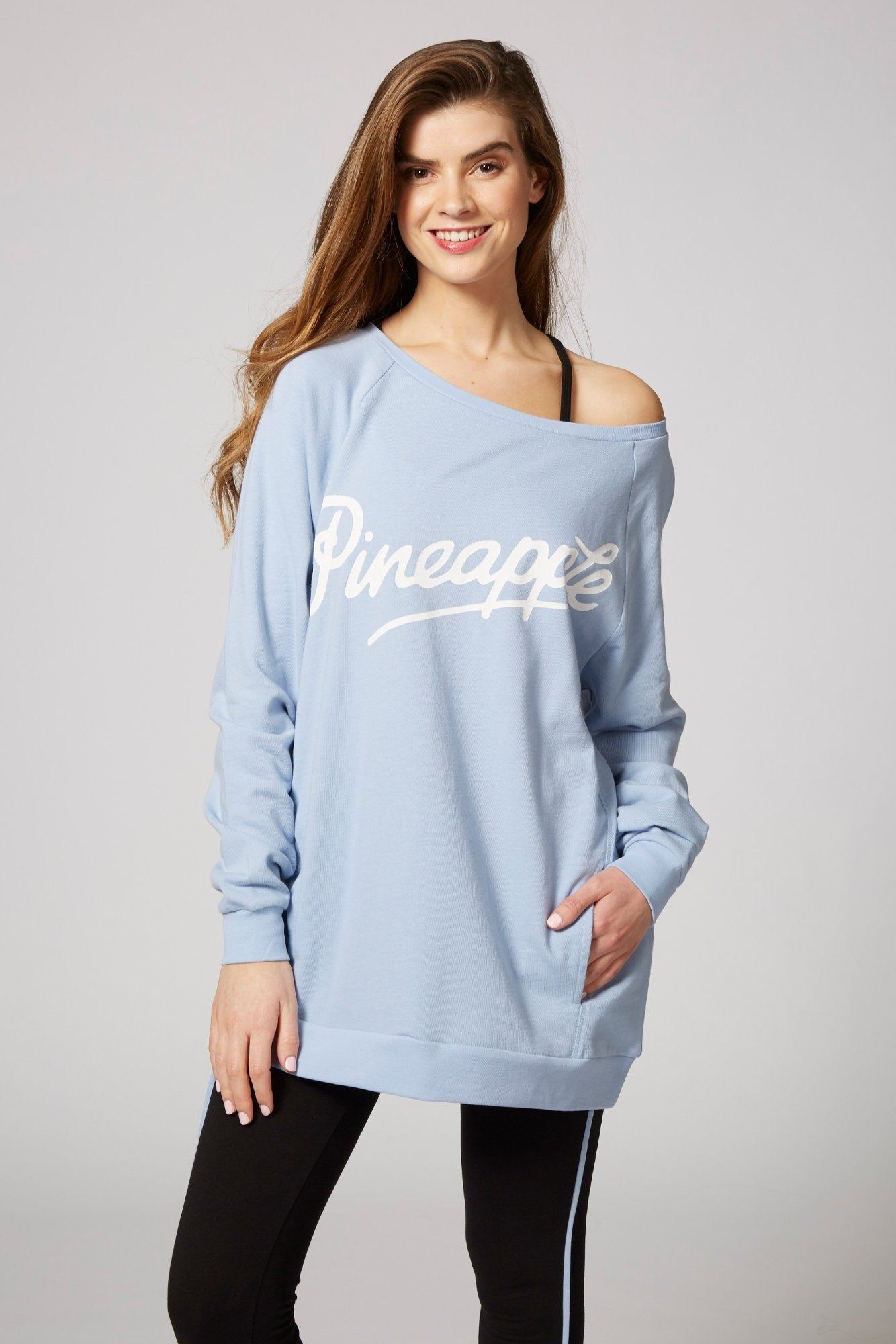 Pineapple Dancewear Women's Blue Monster Sweater