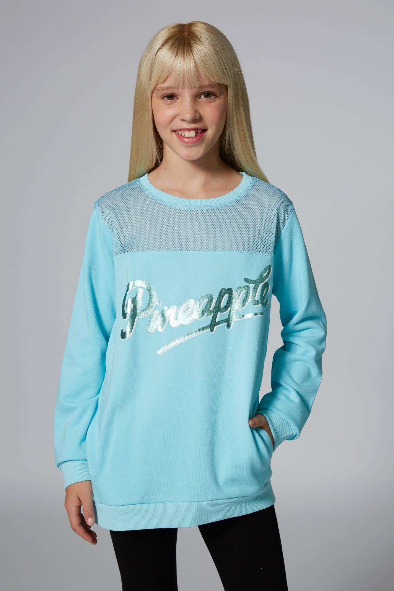 Girls' Mesh Monster Sweater