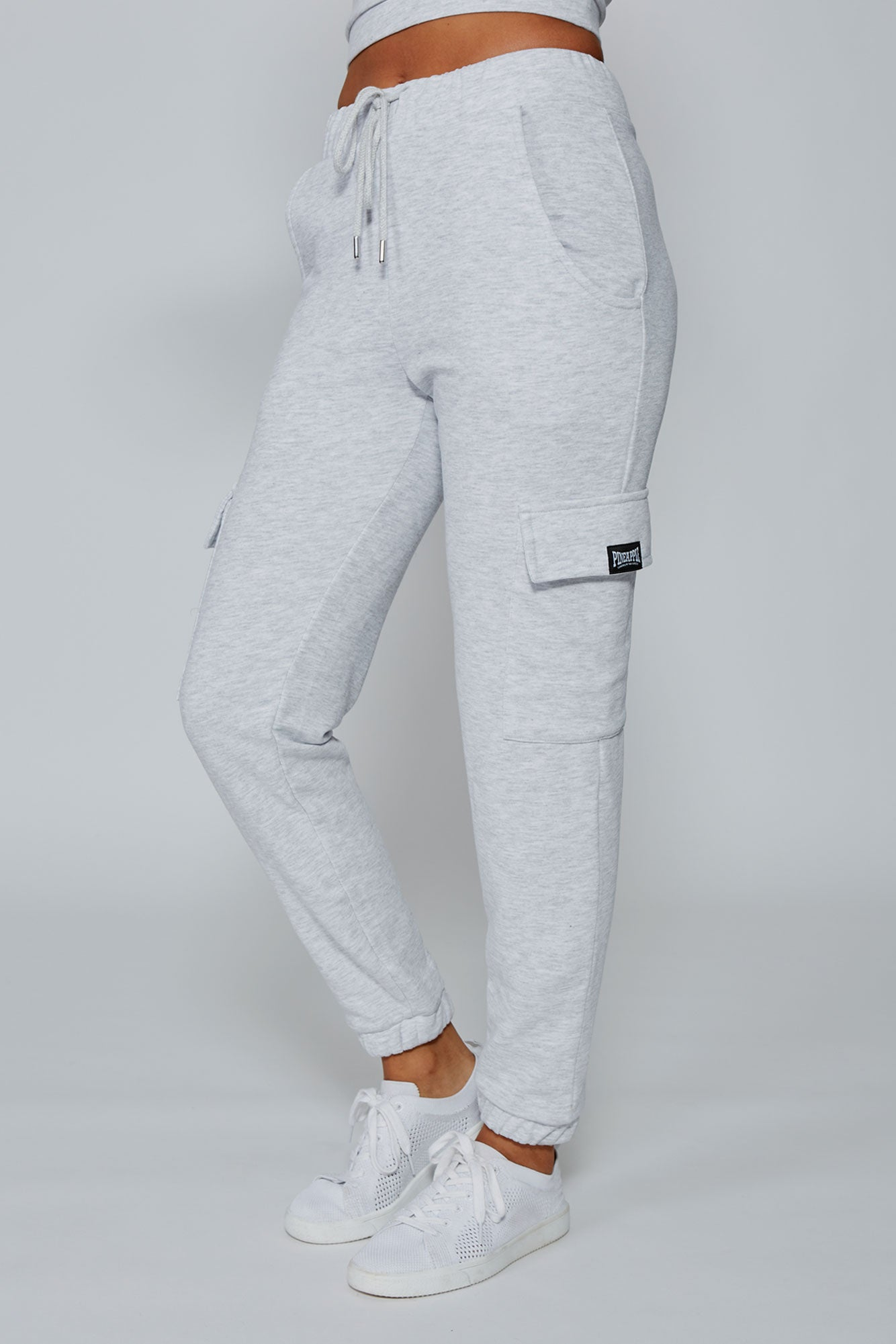 Pineapple Dance Women's Grey Marl Cargo Jogger  PT17130A3
