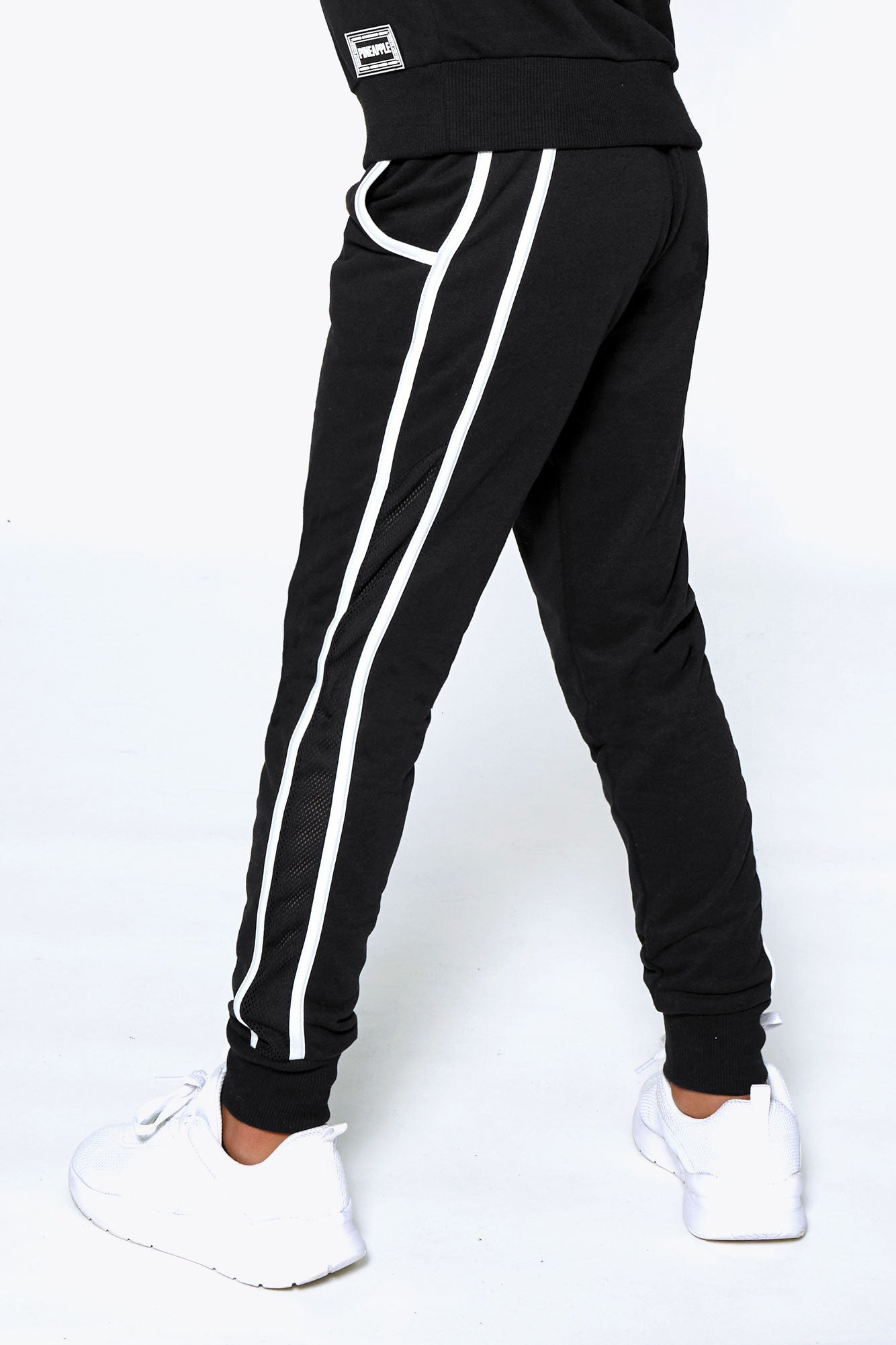 Pineapple Dance Girls' Black Piping Pocket Joggers PT1755CA1