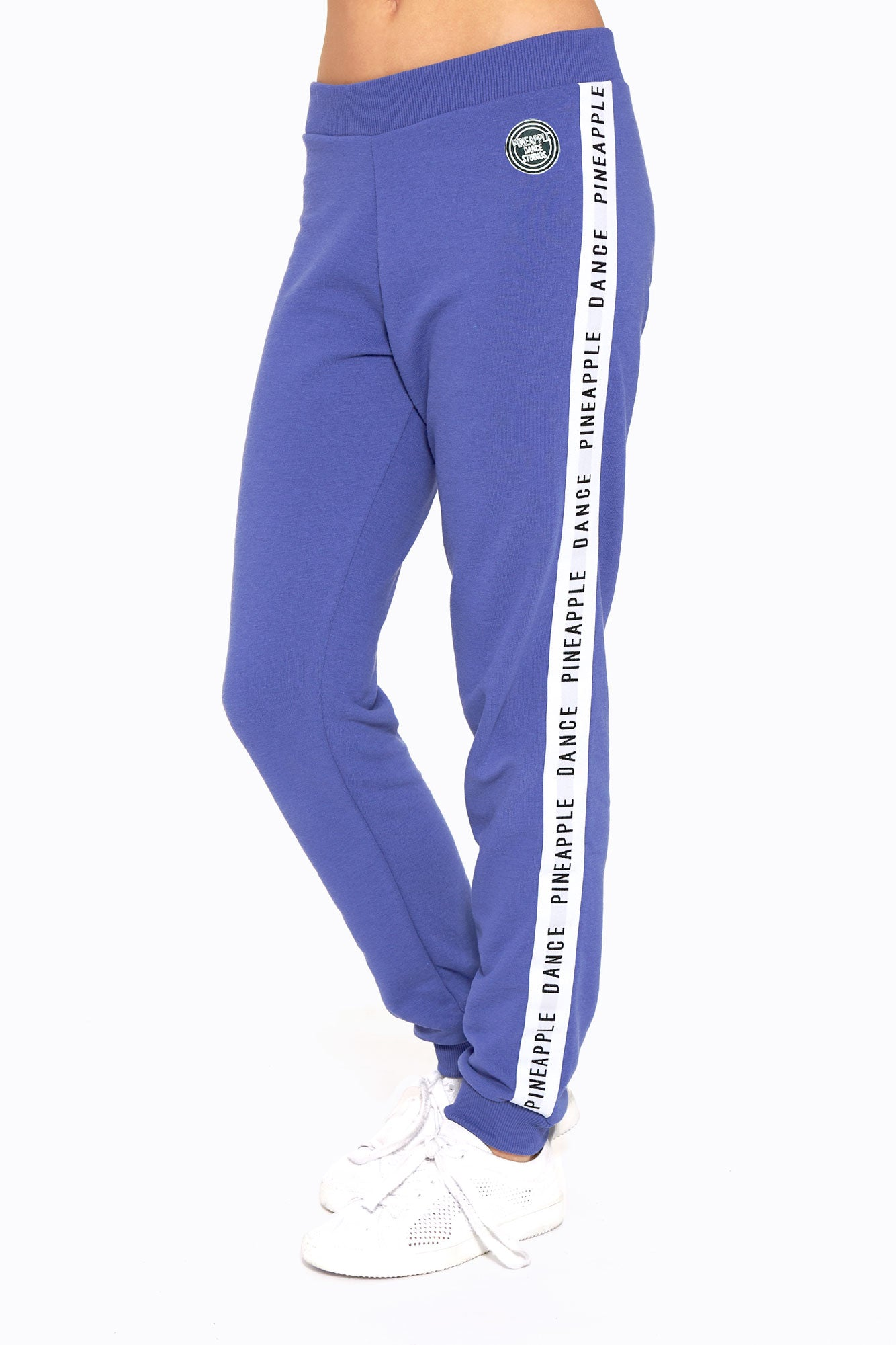 Pineapple Dance Girls' Blue Denim Stripe Jacquard Joggers PT1702CD1