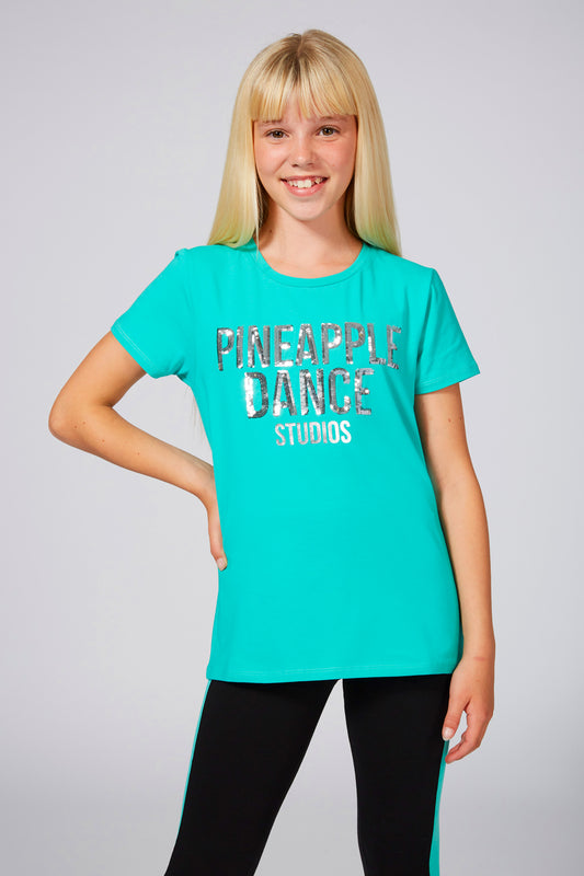 Pineapple Girls' Sequin Mint T-Shirt TS1552CG1