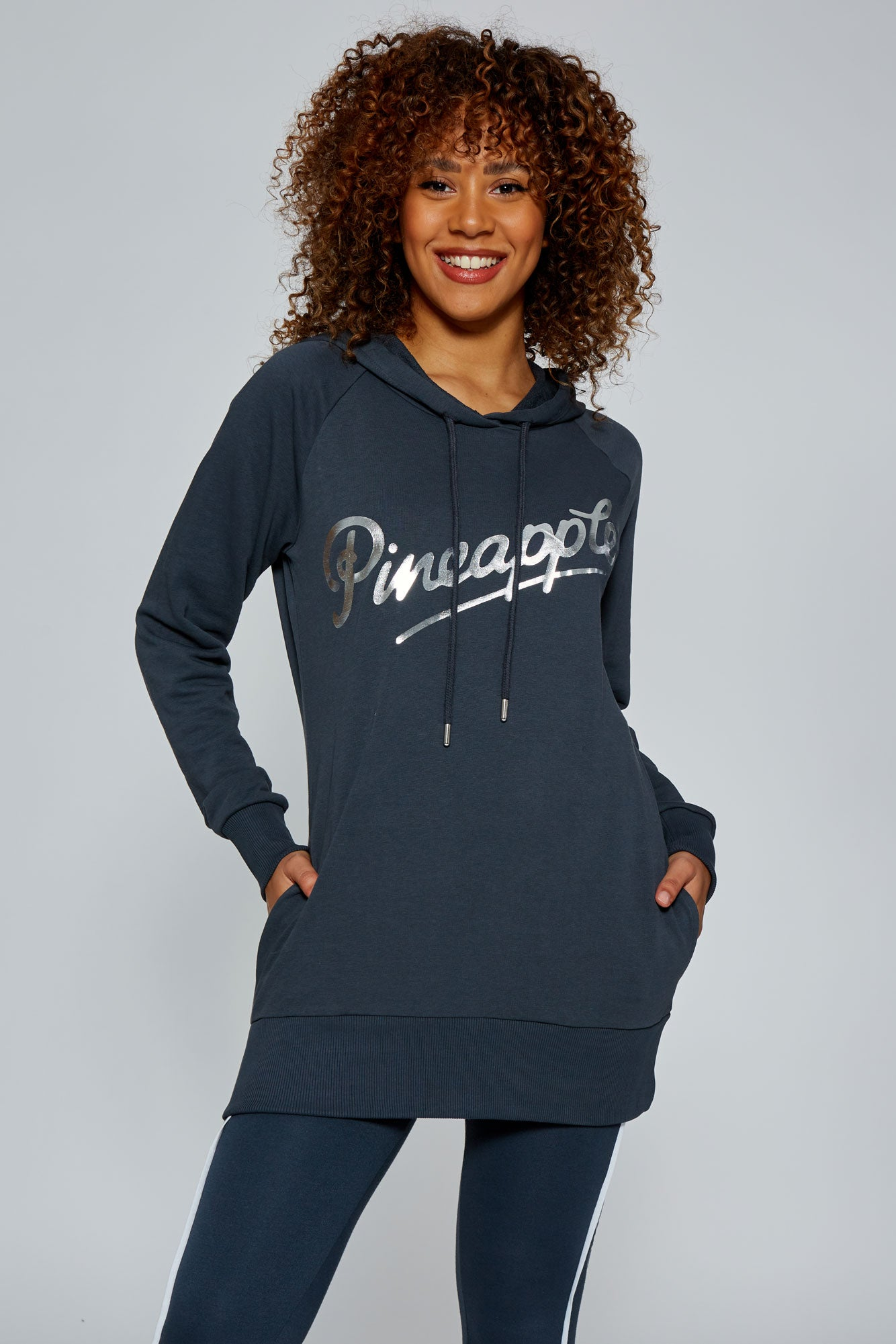 Pineapple Women's Charcoal Retro Hoodie  TH15810A6