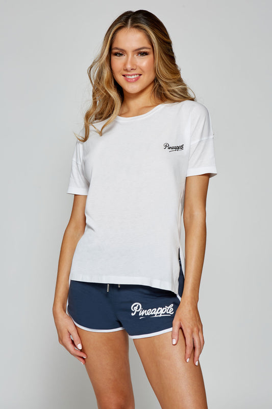 Pineapple Women's White Side Slit T-Shirt  TS16290A2