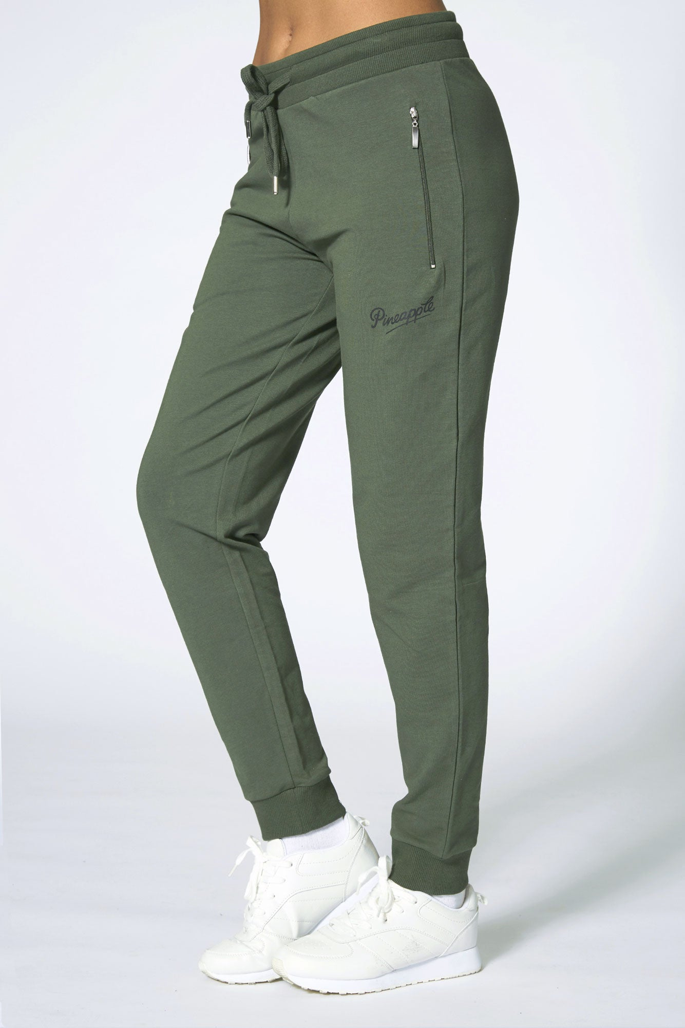 Pineapple Dance Women's Khaki Skinny Zip Trousers PT02980G5