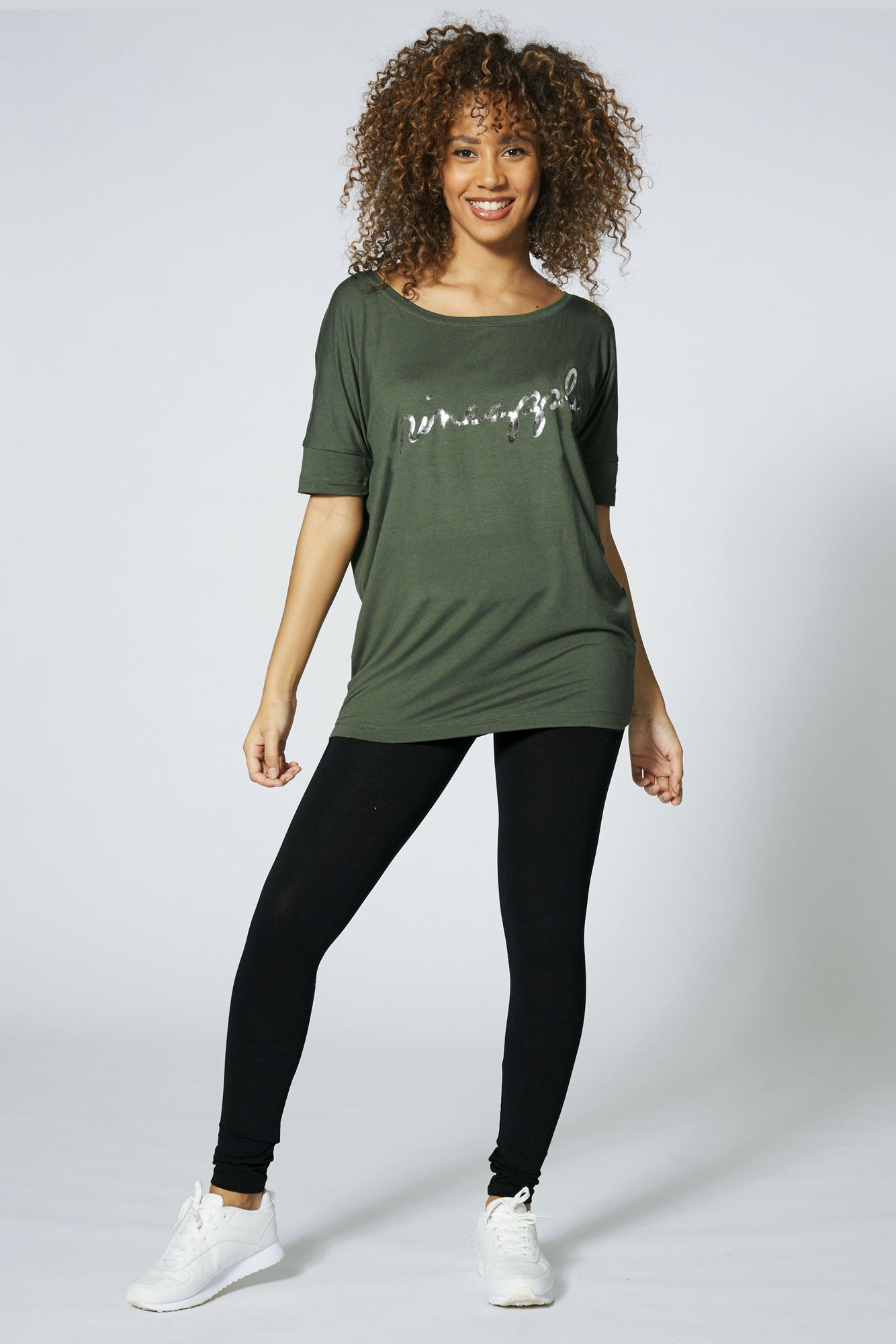Pineapple Dance Women's Khaki Viscose Tee online TS16150G5