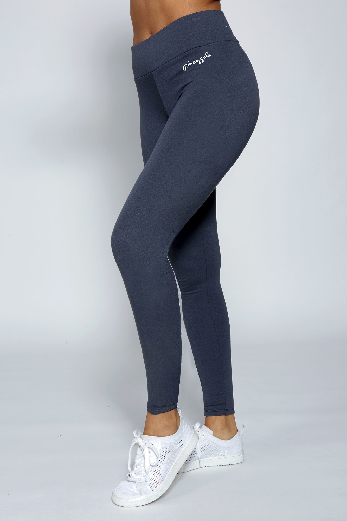 Pineapple Dance Women's Charcoal Wide Band Leggings  PT01900A6