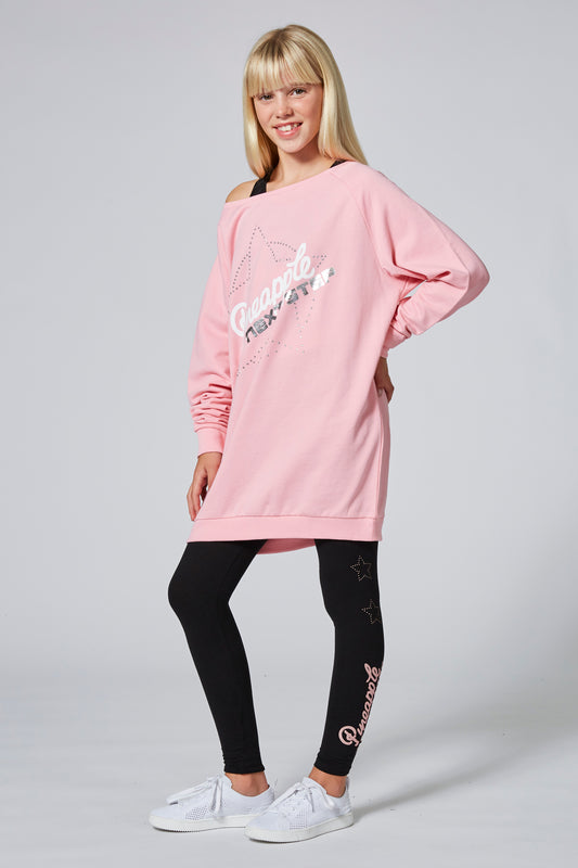 Pineapple X Tns Girl's Pink Monster Jumper TL1591CP1