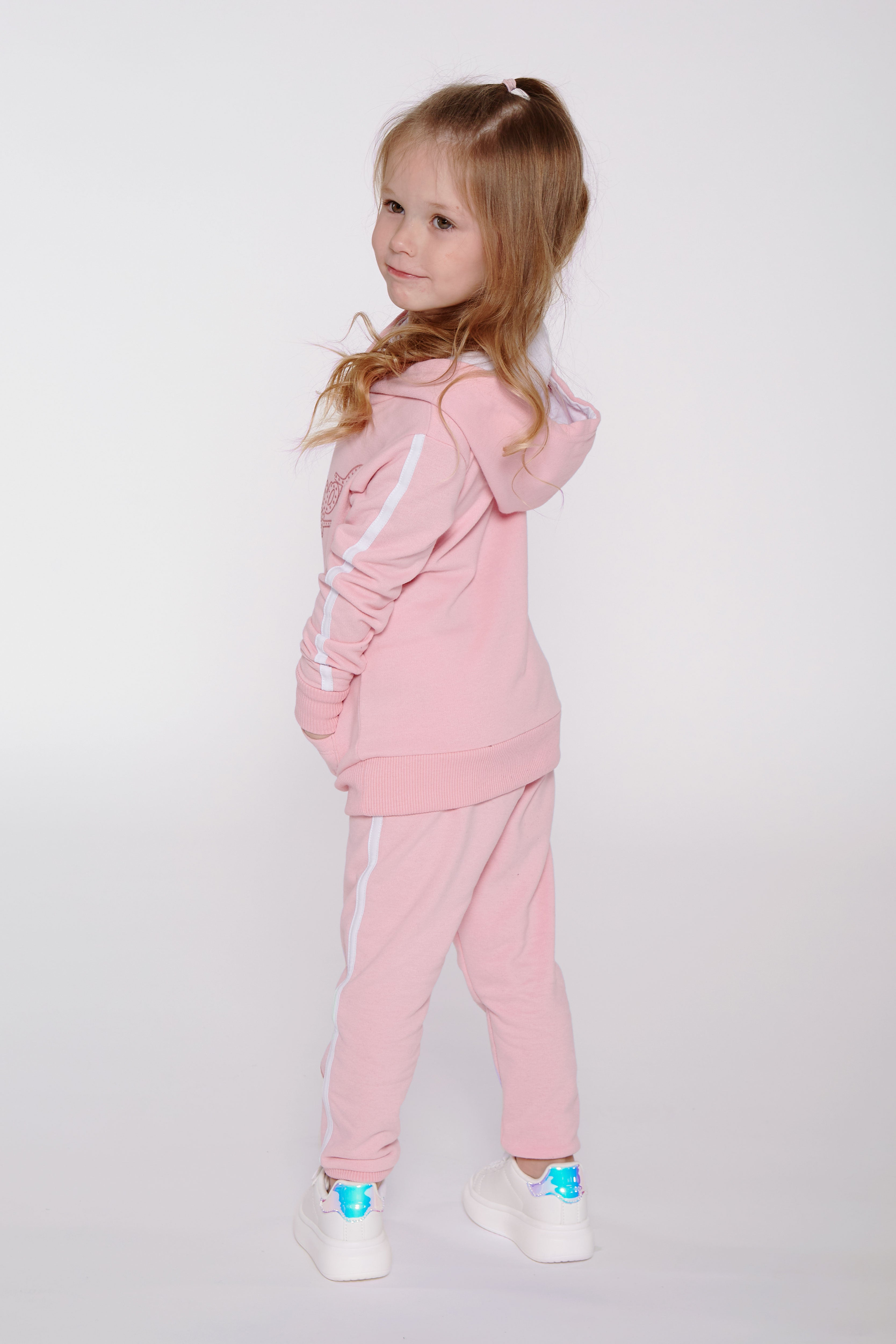 Pineapple Toddler Girls Glitter Logo Hoodie & Jogger Set ST0001CP1