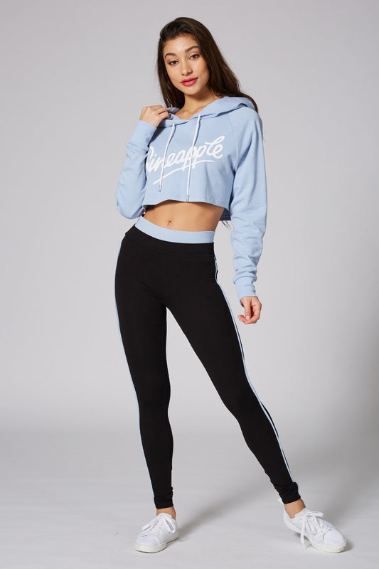 Pineapple Dancewear Women's Blue Retro Crop Hoodie