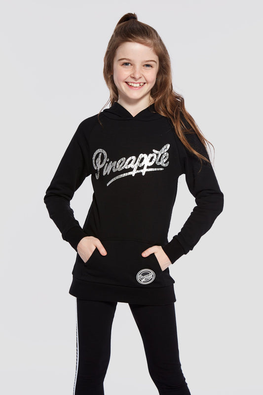 Pineapple Dancewear Girls' Black Retro Longline Hoodie