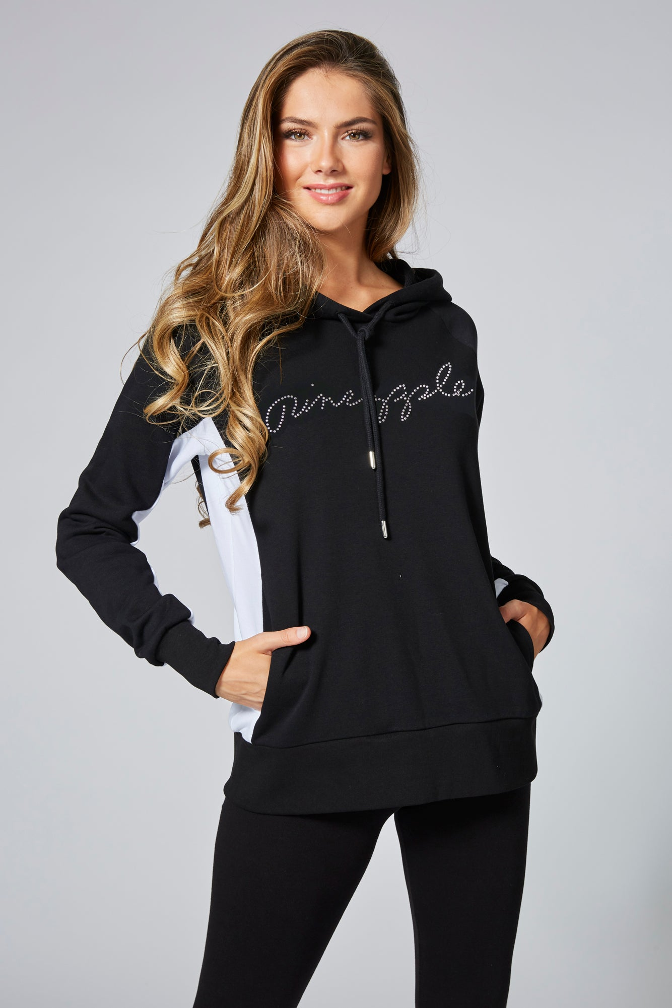 Pineapple Womens Script Panel Hoodie TH15750A1