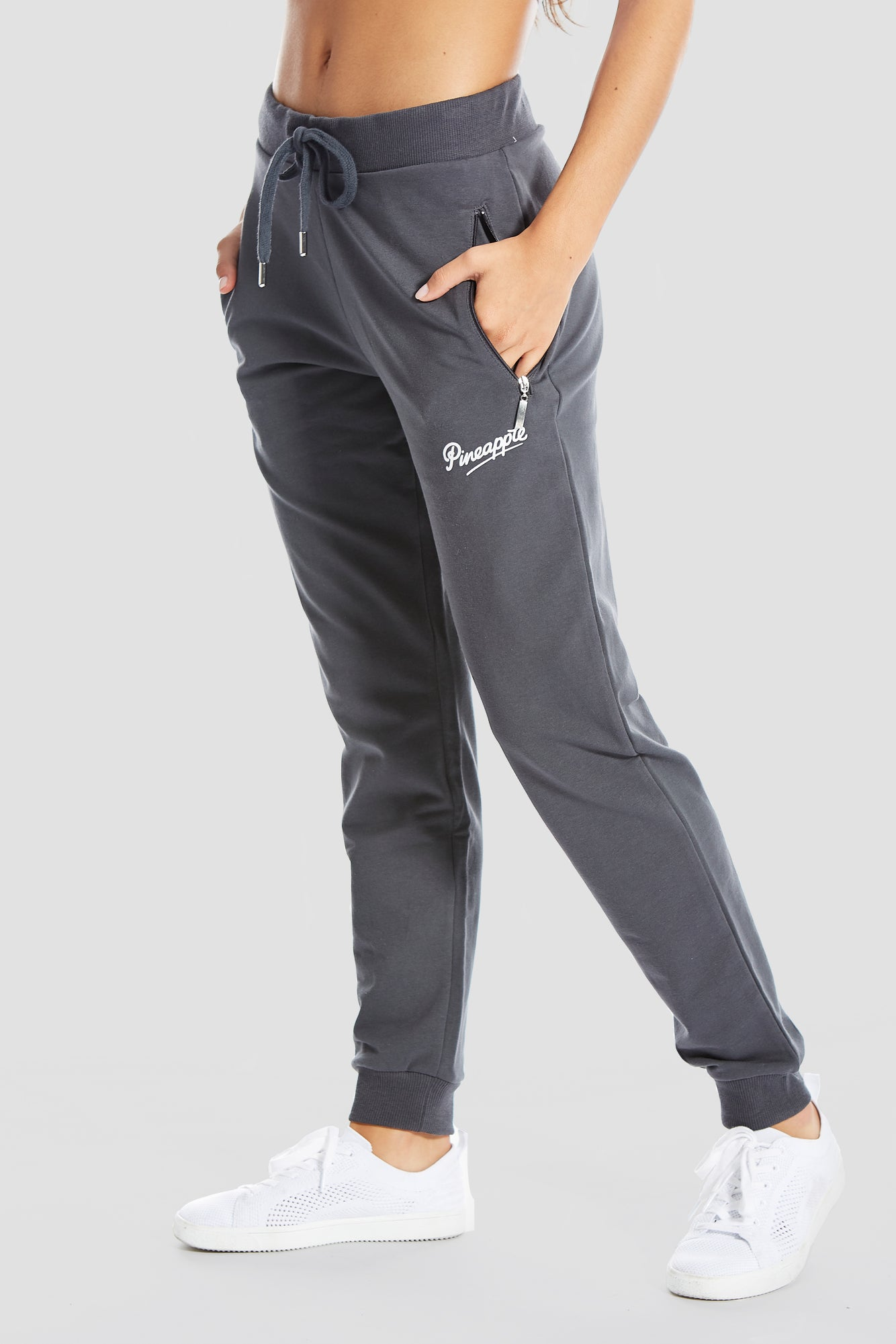 Pineapple Dancewear Women's Charcoal Zip Skinny Joggers