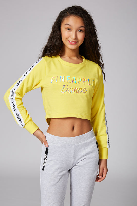 Tape Embossed Cropped Jumper