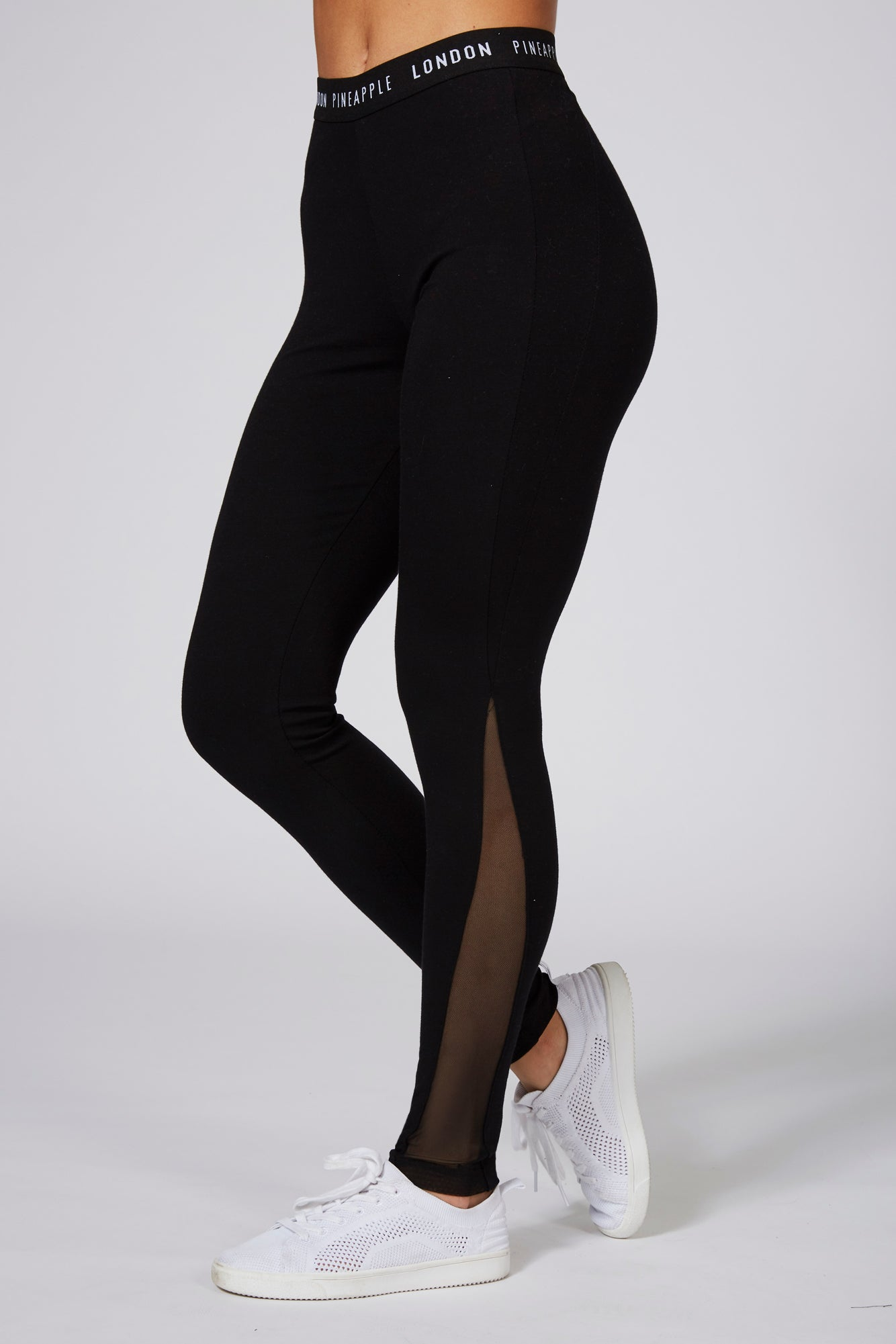 Pineapple Dancewear Women's Black V Mesh Panel Leggings PT17050