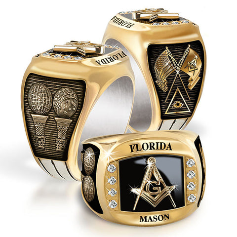 Florida Mason Diamond & Birthstone Rings