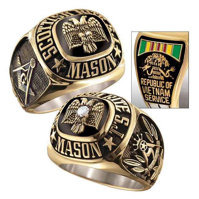 Scottish Rite Masonic & Veteran Fraternal Rings
