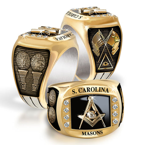 South Carolina Mason Diamond & Birthstone Rings