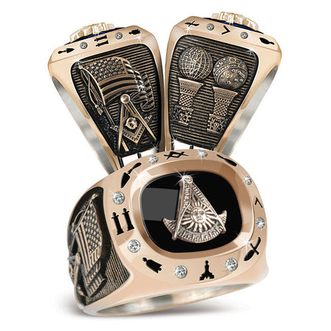 Past Masters Masonic Birthstone Ring