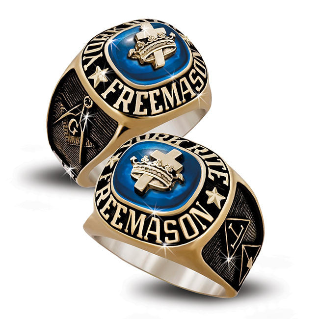 York Rite Freemason Birthstone Rings