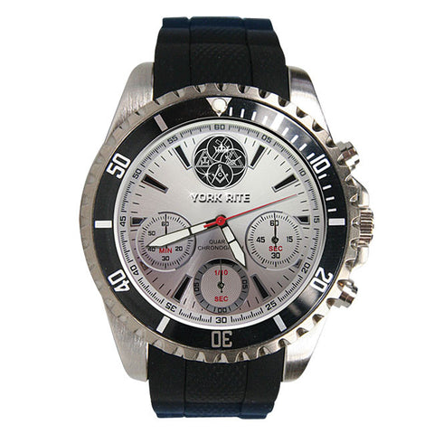 York Rite Precision Chronograph Watch