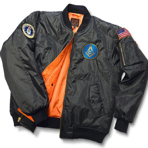 "Masonic & Military Veteran MA-1 ""Bravo"" Jacket"