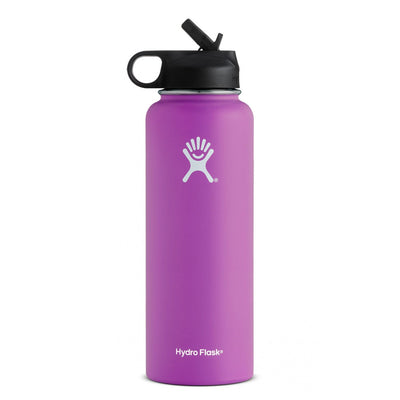 Hydro Flask 40 oz Wide Mouth Insulated Bottle with Straw Lid