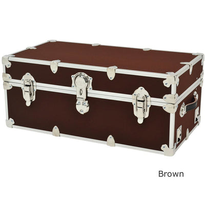 "Rhino Sticker College & Camp Trunk with Wheels & Tray - 32"" L x 18"" W x 14"" H"